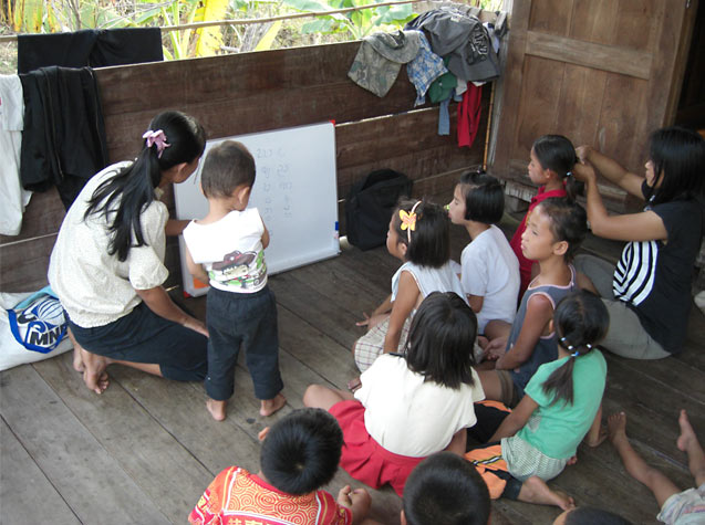 teaching in the slums