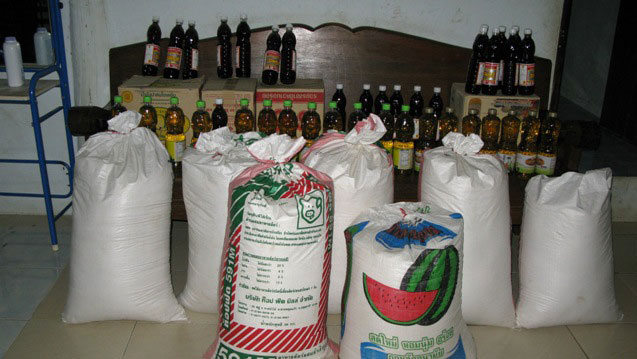 food donation, rice, cooking oil, salt